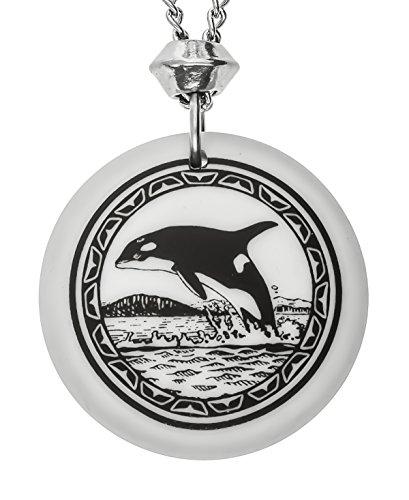 fait-a-la-main-orque-totem-rond-porcelaine-pendentif-avec-22-pouces-chaine