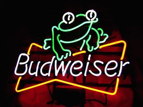 17x14-budweiser-beer-frog-real-glass-neon-light-sign-beer-bar-pub-restaurant