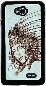 PrintVisa 2D-LGL70-D7795 Girly Queen Case Cover for LG L70