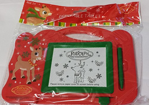 Rudolph The Red-Nosed Reindeer Eraserable Travel Magnetic Tablet