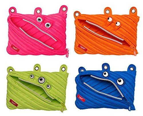 Zipit Monster 3 Ring Pouch - 4 Pack