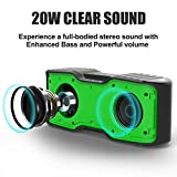 AOMAIS Sport II Portable Wireless Bluetooth Speakers 4.0 with Waterproof IPX7 ,20W Bass Sound,Stereo Pairing,Durable Design for iPhone /iPod/iPad/Phones/Tablet/echo dot(Next Generation Green)