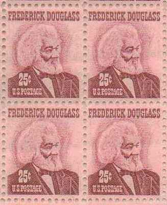 Frederick Douglas Set of 4 x 25 Cent US Postage Stamps NEW Scot 1290
