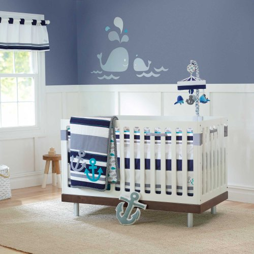 High Seas 4 Piece Baby Crib Bedding Set With Crib Liner By Just Born front-954268
