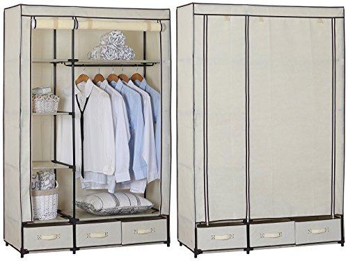 woltu ss5027cm kleiderschrank stoff garderobenschrank. Black Bedroom Furniture Sets. Home Design Ideas