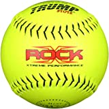 Trump® X-ROCK-NSA-Y-2 The Rock® Series 12 inch Yellow Composite Leather NSA Approved Softball (Sold in Dozens)