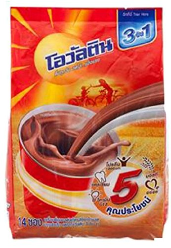 OVALTINE READY MIXED MALT BEVERAGE CHOCOLATE FLAVOUR 3IN1 PACK 14SACHETS (Krups Coffee Grinder Red compare prices)
