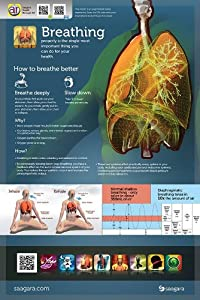 "Augmented Reality Poster - The Science of Breathing by Saagara - 24"" x 36"""