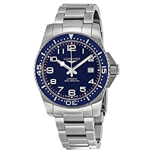 Longines Hydro Conquest Blue Dial Stainless Steel Mens Watch L36954036