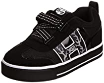 Heelys HX2 Bolt Lighted Skate Shoe (Little Kid),Black/White,3 M US Little Kid