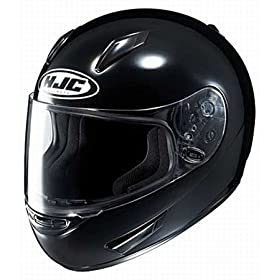 HJC Full Face Motorcycle Helmet CL-15 Black - Size : Small