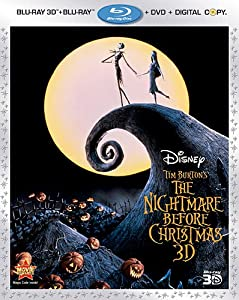 The Nightmare Before Christmas Three-disc Combo Blu-ray 3d Blu-ray Dvd Digital Copy by Disney