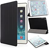 iHarbort® Apple iPad Air Hülle - Prime Ultra Slim PU Leder Tasche Case Etui Sleeve Smart Cover Schutzhülle Hülle für Apple iPad Air (iPad 5 Generation), Mit Sleep / Wake-Up-Funktion, Schwarz