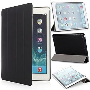 iHarbort® Apple iPad Air Hülle - Prime Ultra Slim PU Leder Tasche Case Etui Sleeve Smart Cover Schutzhülle Hülle für Apple iPad Air (iPad 5 Generation), Mit Sleep / Wake-Up-Funktion, Schwarz