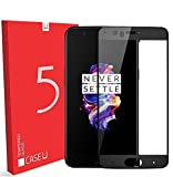 #4: OnePlus 5 Tempered Glass, Case U OnePlus 5 Full Coverage Tempered Glass Screen Protector - Black Rim [Limited Stocks]