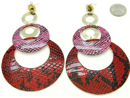 EARRING FISH HOOP THEME RED Fashion Jewelry Costume Jewelry fashion accessory Beautiful Charms