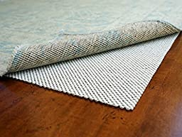 Super Lock Natural by Rug Pad USA, Rubber Non Slip Rug Pads, Gripping Open Weave Rubber Rug Pad (2x8)