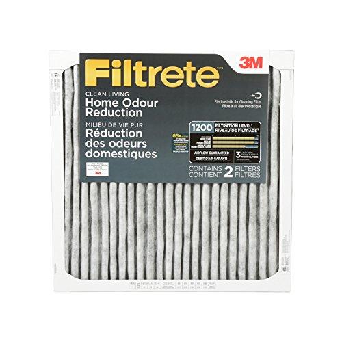 Filtrete Allergen Defense Odor Reduction Filter, MPR 1200, 20x 20 x 1-Inches, 2-Pack (3m Filtrete 20x20x1 compare prices)