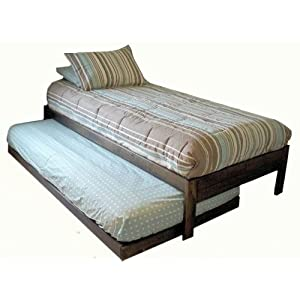 Santa Cruz Twin Bed with Trundle (Rustic Walnut)