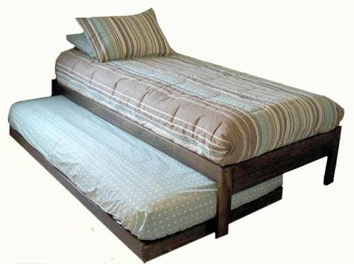 Spectacular New Santa Cruz Twin Bed With Trundle Rustic Walnut For Sale Under
