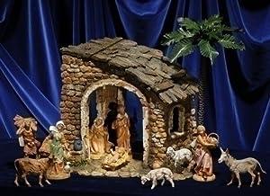"Amazon.com: Fontanini 5"" Lighted Christmas Nativity Stone"