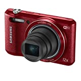 """Samsung WB35F 16.2MP Smart WiFi & NFC Digital Camera with 12x Optical Zoom and 2.7"""" LCD (Red)"""