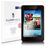 iLLumiShield - Hisense Sero 7 Pro M470BSA Crystal Clear Screen Protectors with Anti-Bubble/Anti-Fingerprint - 3-Pack + Lifetime Replacements