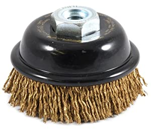 Forney 72875 3-Inch Industrial Pro Premium Cable Crimped Cup Brush with M10 by 1.25 and M10 by 1.50 Multi Arbor at Sears.com