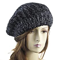 Knitted Beret, Black