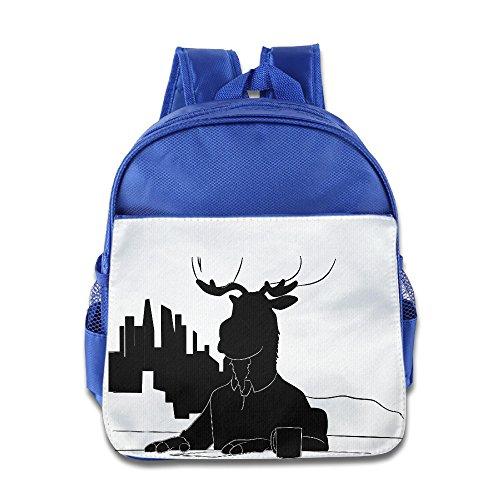 JXMD Custom Personalized Cartoon Character Children School Bagpack Bag For 1-6 Years Old RoyalBlue