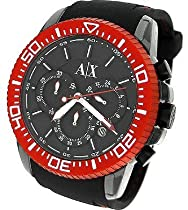 AX Armani Exchange Mens Black Silicone Strap Watch #AX1204