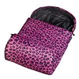 Wildkin Leopard Stay Warm Sleeping Bag, Pink, One Size