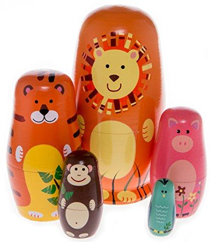 Moonmo-5pcs-Beautiful-Handmade-Wooden-Russia-Nesting-Dolls-Gift-Russian-Nesting-Wishing-Dolls-Cute-Cartoon-Animals-Matryoshka-Traditional