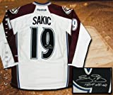 Joe Sakic Signed Colorado Avalanche White Reebok Premier Jersey - HOF at Amazon.com