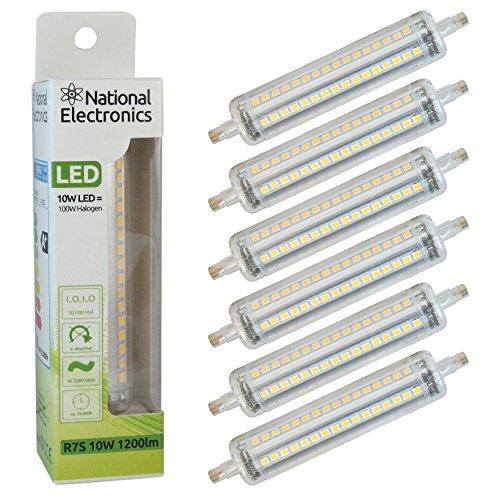 national-electronicsr-6er-set-stablampe-r7s-10w-1200-lumen-led-leuchtmittel-baustrahler-ac-230v-50hz