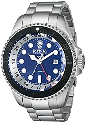 Invicta Men's 16968 Reserve Analog Display Swiss Quartz Silver Watch