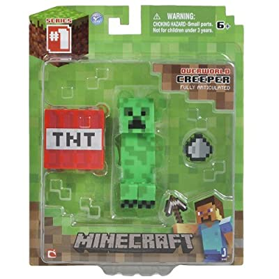 Minecraft Overworld Series 1 Creeper Action Figure by Jazwares