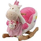 leomark minou cheval bascule en bois et peluche jouet. Black Bedroom Furniture Sets. Home Design Ideas