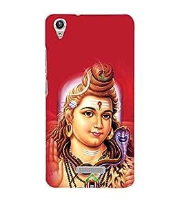 printtech Lord God Om Namah Shivaya Back Case Cover for Lava Pixel V1