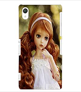 ColourCraft Lovely Doll Design Back Case Cover for SONY XPERIA Z2