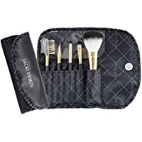 Jacki Design Vintage Allure 5 pc Make Up Brush Set with Bag (Black)