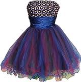 Beaded Sequin Mini Prom Party Homecoming Dress, Medium, Royal