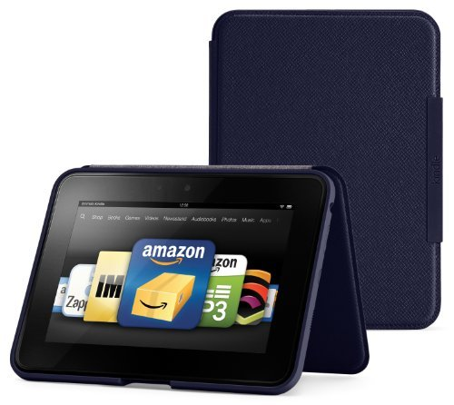 Amazon Kindle Fire HD Standing Leather Cover, Ink Blue (will only fit Kindle Fire HD)
