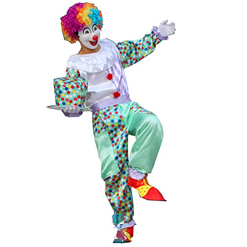 Shining Full Set Clown Costume for Party Halloween Men Women