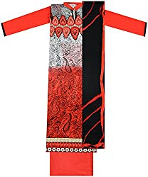 Maria Collection Women's Unstitched Dress Material (Multicolor)