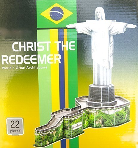 Easter Jesus basket, National park, Corcovado, 3d Puzzle, 22 Pieces, 34 Cm X 42 Cm X 22.5 Cm