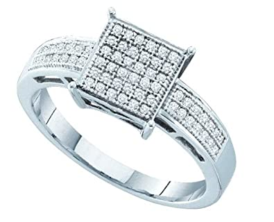 Sterling Silver 0.18 Dwt Rough Diamond Micro Pave Set Ring