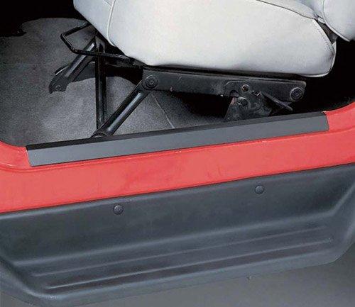 Rugged Ridge OMX11216.01 Jeep Wrangler / CJ Black Door Entry Guards - CJ / YJ / TJ / LJ - Black