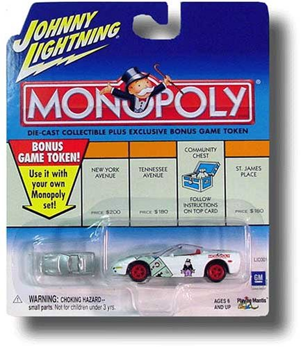 Buy Johnny Lightning 2001 Modern Monopoly Corvette Car