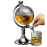 Homecube Globe Shaped Beverage Dispenser Drink Beer Machine Beer Pump Single Canister